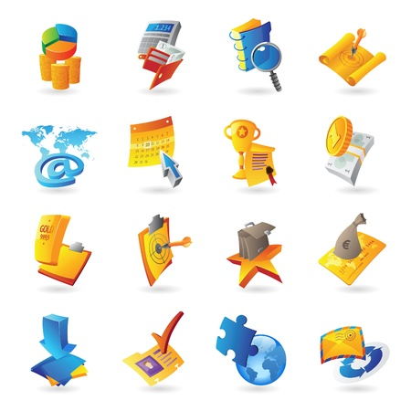 Icons for business and finance Stock Vector - 15082142