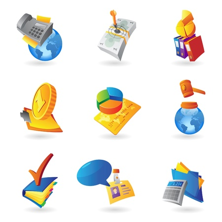 Icons for business and finance Stock Vector - 15082133