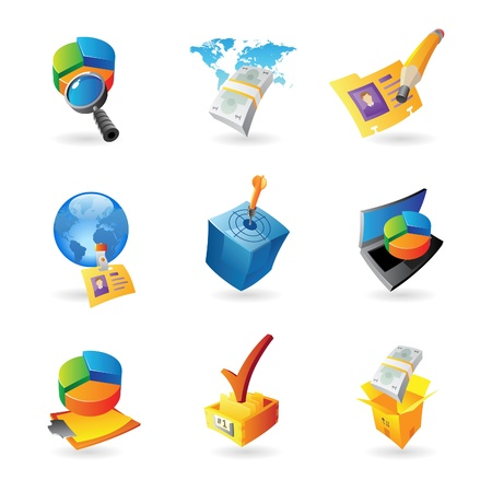 Icons for business and finance Stock Vector - 15082124