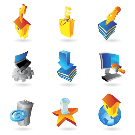 paperbag: Icons for industry and ecology Illustration