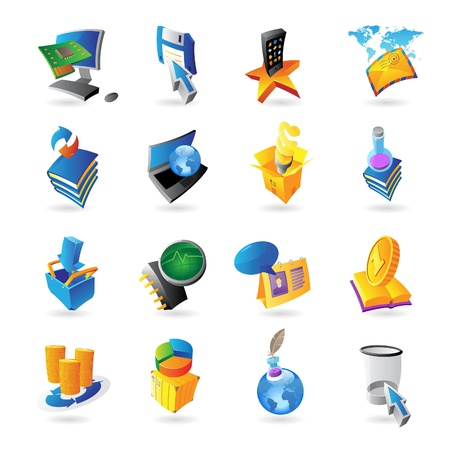 Icons for technology and computer interface Stock Vector - 15082140