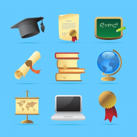 Icons for education Stock Vector - 15082139