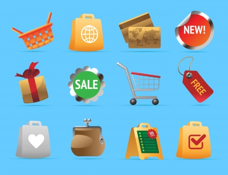 shoping bag: Icons for shopping