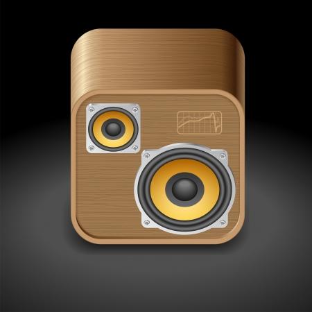 Icon for speakers. Dark background Stock Vector - 15082309