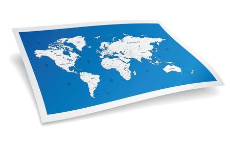 mapa de africa: Blue mapa del mundo