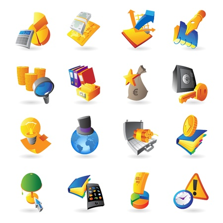 Icons for business and finance  Vector illustration Stock Vector - 15304708