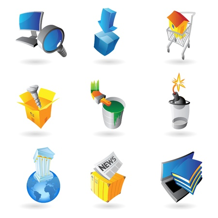 Icons for industry  Vector illustration Stock Vector - 15304672
