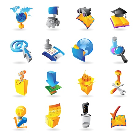 Icons for technology and computer interface  Vector illustration  Stock Vector - 15304706
