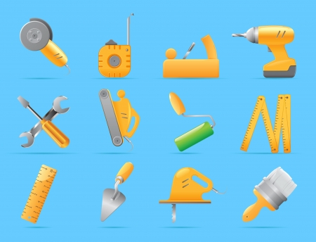 hand trowel: Icons for tools  Vector illustration