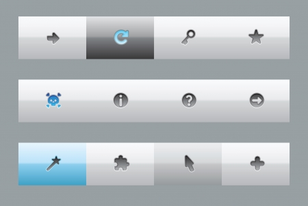 interface buttons: Interface buttons for signs and symbols
