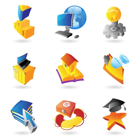 Icons for science, education and medicine  illustration  Vector