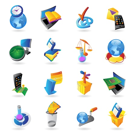 Icons for technology and computer interface Stock Vector - 15526464