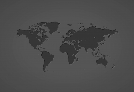 Gray world map.  Vector