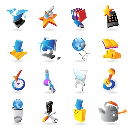 Icons for technology and computer interface Stock Vector - 15547797