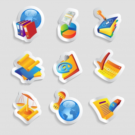 email icons: Icons for business and finance.