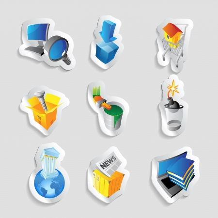 lens brush: Icons for industry.