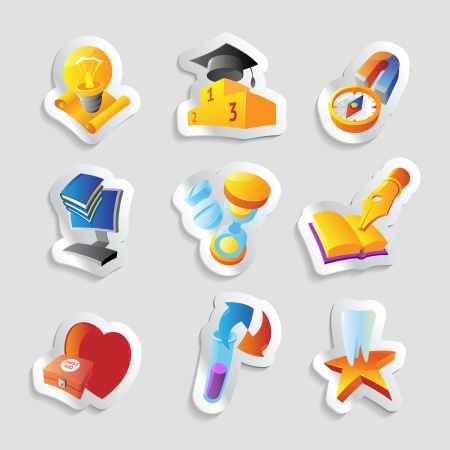 Icons for science, education and medicine. Stock Vector - 15547821