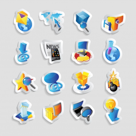 Icons for technology and computer interface. Stock Vector - 15547831