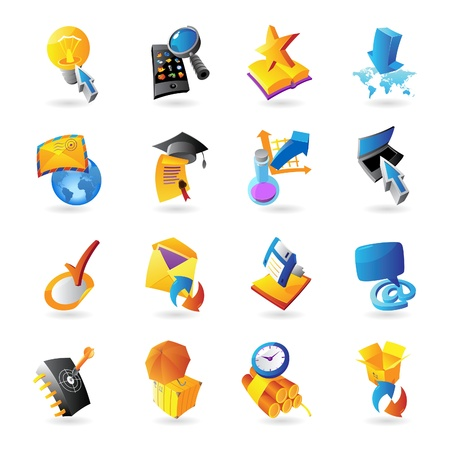 Icons for technology and computer interface Stock Vector - 15585006