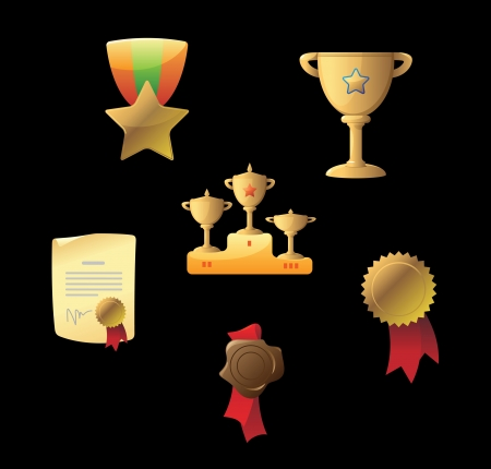 Icons for awards  Vector