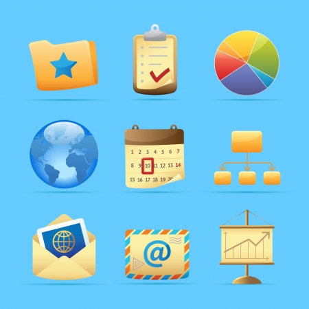 Icons for business metaphors and symbols   Vector