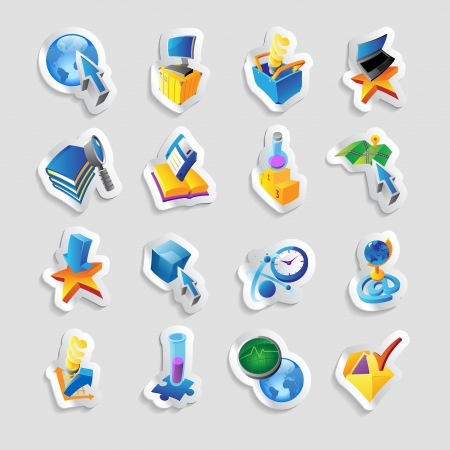 Icons for technology and computer interface. Stock Vector - 15585131