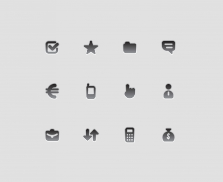 Icons for business illustration  Vector