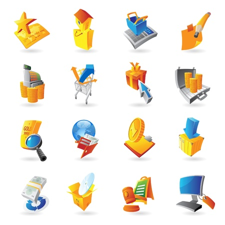 Icons for retail commerce  illustration  Vector