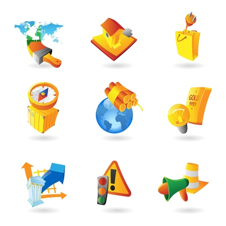 paperbag: Icons for industry illustration