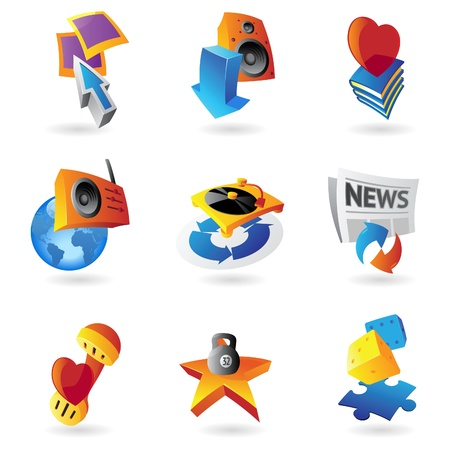 Icons for leisure, travel, sport and arts illustration  Vector