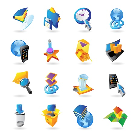 Icons for technology and computer interface illustration  Stock Vector - 15658590