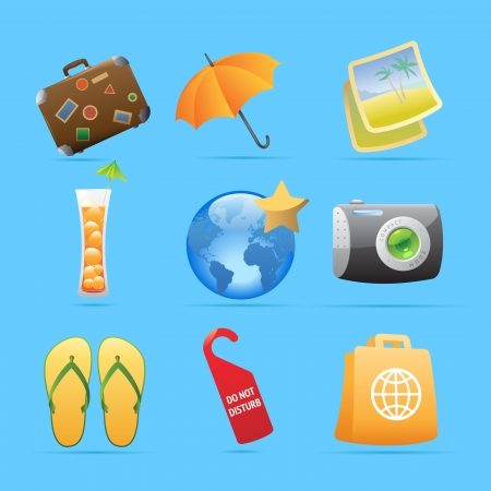 Icons for resort illustration  Vector