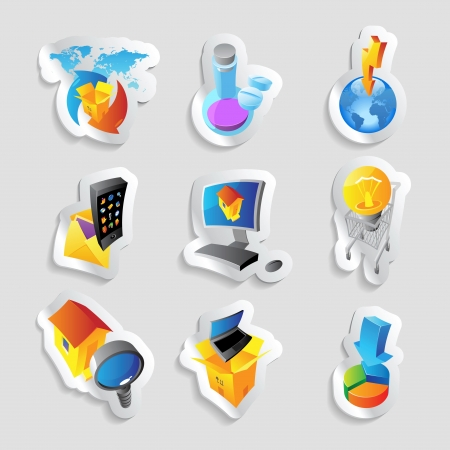 Icons for industry. Stock Vector - 15658611