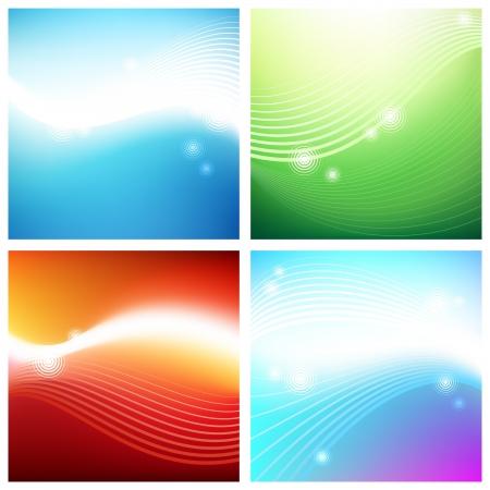 Vivid aura backgrounds.  Illustrator mesh tool used. Stock Vector - 15658584