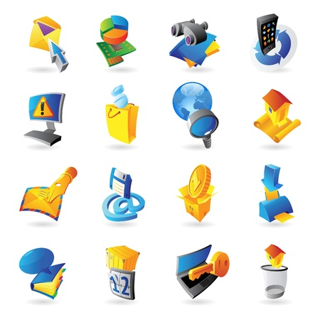 Icons for technology and computer interface Stock Vector - 15710915