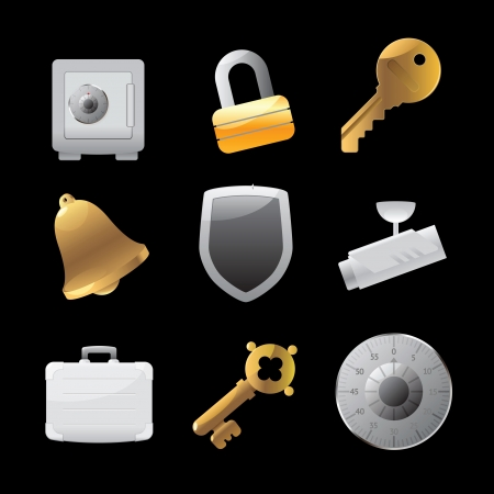 Icons for security Stock Vector - 15710878