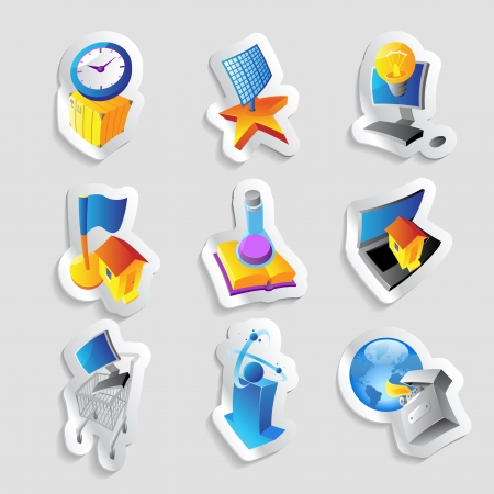 Icons for industry, energy and ecology Stock Vector - 15710844