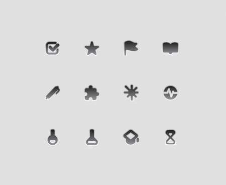 Icons for education, science and technology Vector