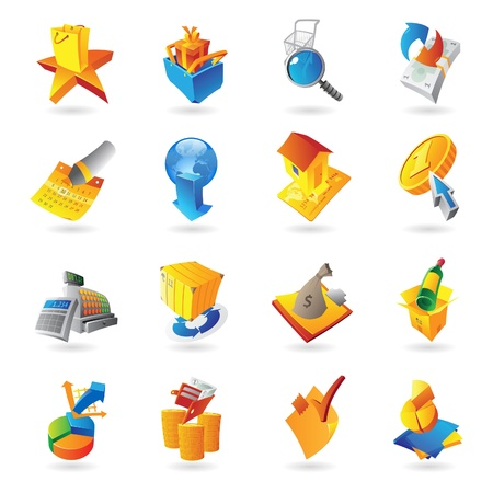 Icons for retail commerce   Stock Vector - 15800177