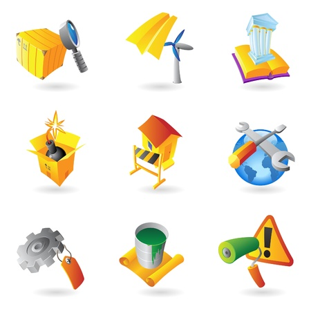 barrel bomb: Icons for industry   Illustration
