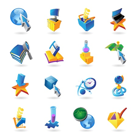 Icons for technology and computer interface  Stock Vector - 15800171