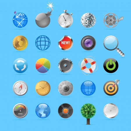 explosive watch: Icons for round objects and symbols