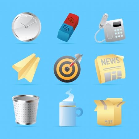 Icônes de bureau et de papeterie