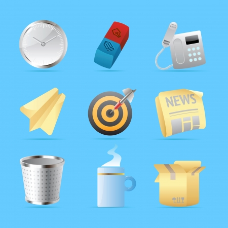 eraser: Icons for office and stationery