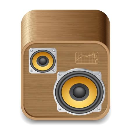 Icon for speakers. White background. Illustration