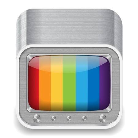 Icon for retro-styled television set. Stock Vector - 15800204