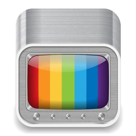 set de television: Icono de televisi�n de estilo retro. Vectores