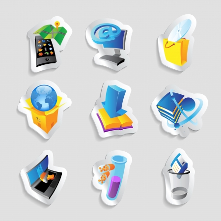 Icons for industry, energy and ecology.  Stock Vector - 15800183