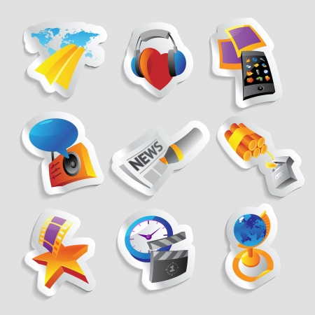 Icons for media and entertainment Stock Vector - 15800206