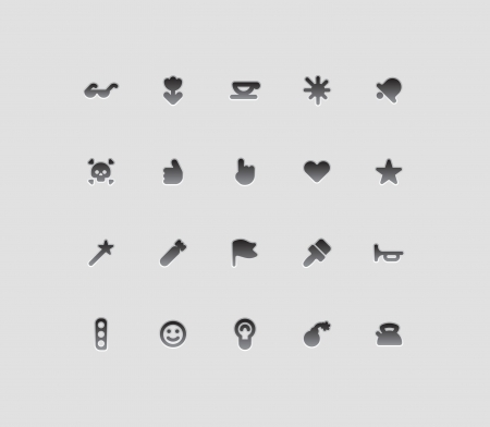 miscellaneous: Miscellaneous interface icons  Vector illustration